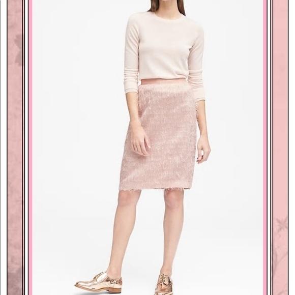 Banana Republic Dresses & Skirts - Banana Republic Eyelash Fringe Pencil Skirt